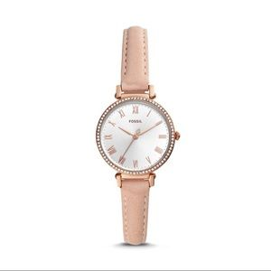 Fossil watch rose gold band